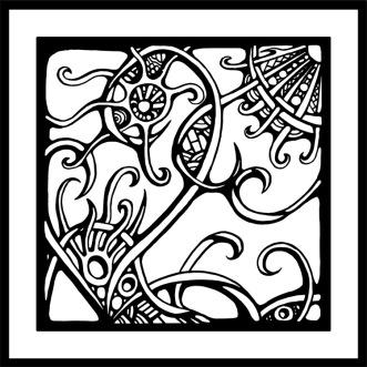 Organic Left Panel Doodle Art