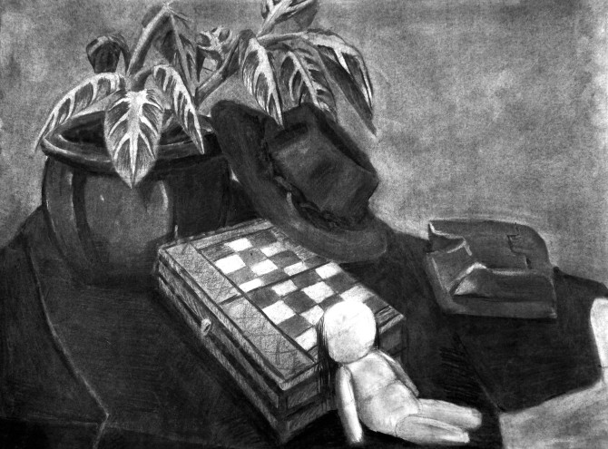 Charcoal Still Life 001