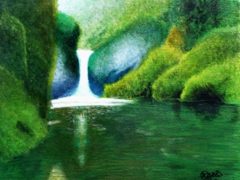 Waterfall Acrylic