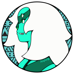 Gem Sticker Design Side Malachite