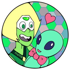 Gem Sticker Design Green Peridot